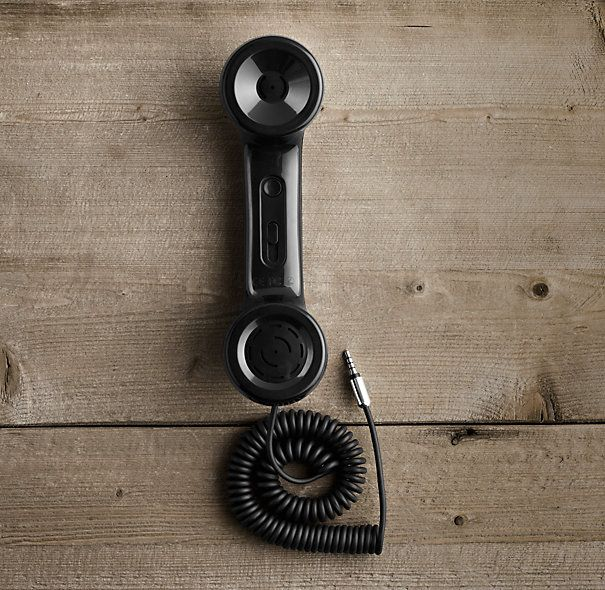 Retro Handset (a) vintage is WAY in style, (b) the powers that be can't decide if radiation from our phones is harmless or killing our brains, and (c) these are just plain cool!