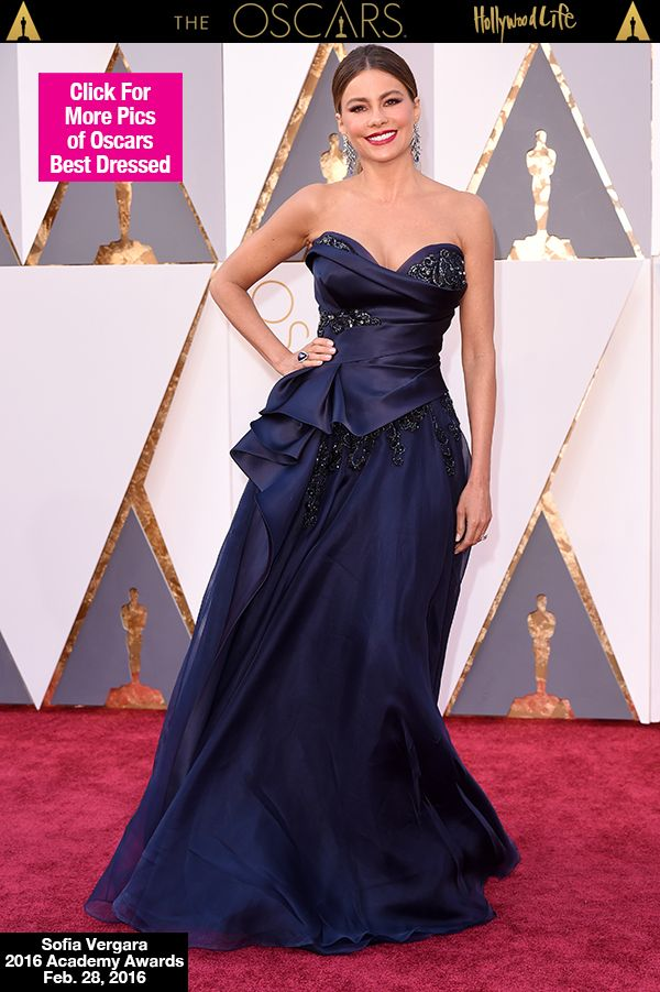 Sofia Vergara looked absolutely stunning at the 88th Academy Awards in Hollywood on Feb. 28. The gorgeous actress donned a show-stopping navy gown with embellishments and her cleavage was out of control. What did you guys think of her look?