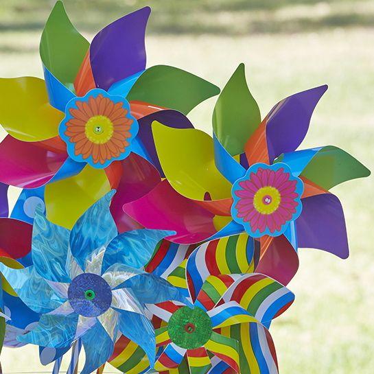 Rainbow Swirly & Carnival #whirlywindmills #party #colour #rainbow #fun #happy #pinwheel #decoration