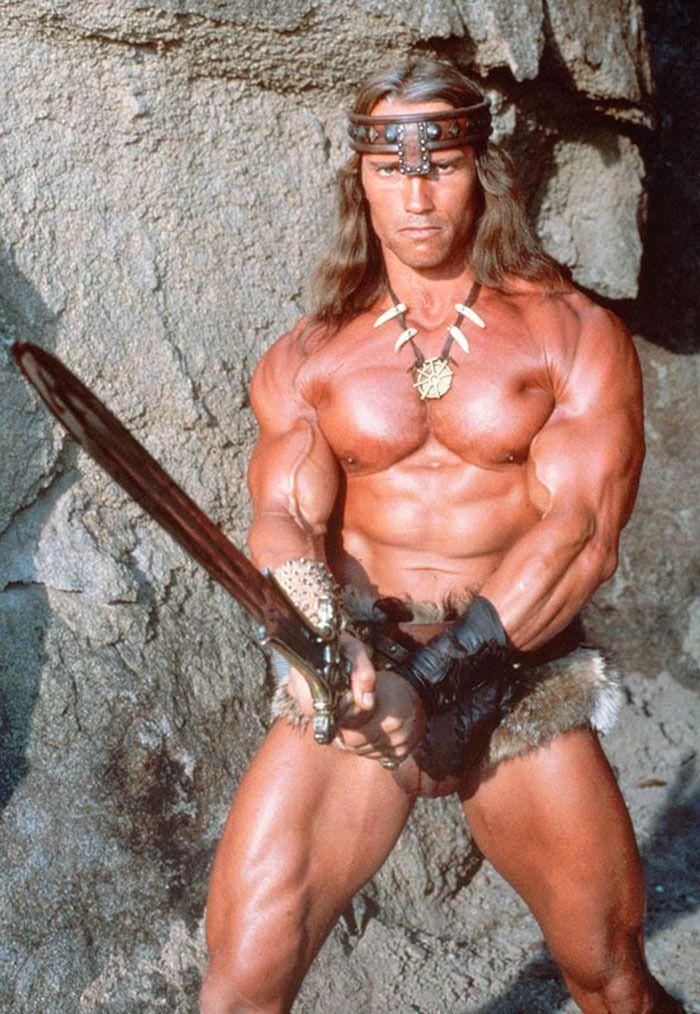 """Arnold Schwarzenegger en """"Conan el Bárbaro"""" (Conan The Barbarian), 1982"""