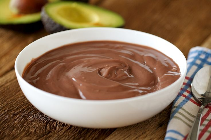 Chocolate Mousse 1/2 c. medjool dates, soaked    1/2 c. maple syrup  1 tsp. vanilla extract (optional)  1-1 1/2 c. mashed avocado (abt. 2-3 avocados)  3/4 c. organic cocoa or carob powder  1/2 c. water