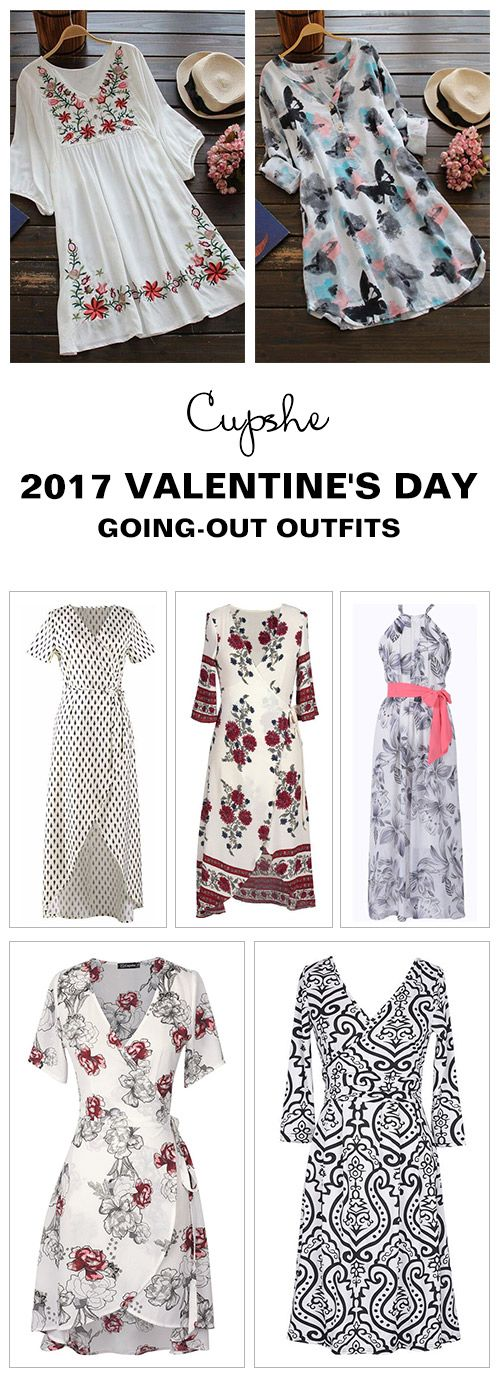 Hot Sale! Dress up now for romantic dates. Short Shipping Time! Easy Return + Refund! Get ready for Romantic Valentine's Day. Cupshe.com has collected best outfits for going-out nights. Hold on to it now!