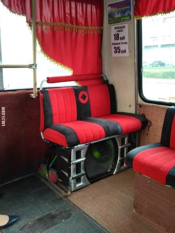 Autobus w Rosji #autobus #subwoofer #Rosja