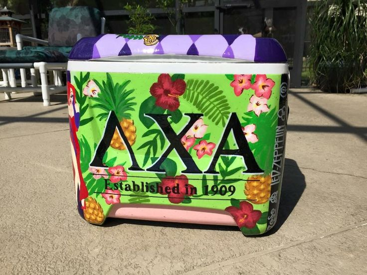 Tropical Lambda Chi Alpha cooler.  Literally amazing by Maddi Nordstrom from The Cooler Connection