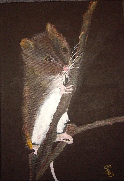 "Mervyn Mouse 16.5"" x 11.7"" acrylic on a canvas board"