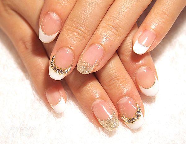 wedding nails #white
