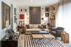 AZARI COLLECTION Interior designer Malcolm Sheldrake of Riddell Marly, sitting room - Azari Rug Collection, pure wool, hand woven in Iran
