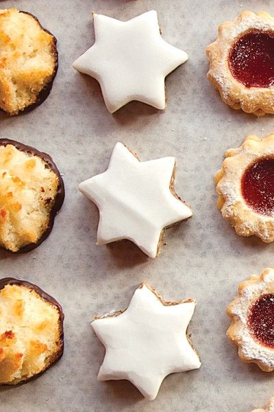 Cinnamon and kirsch star cookies (Zimtsterne) from Saveur Magazine