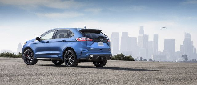 "Meet the 2019 Ford Edge ST for when the soccer team is running late  The 2019 Ford Edge ST was unveiled Thursday the latest iteration of the popular Ford crossover and the first to wear the ST badge.  The Edge ST follows the Fiesta and Focus into ST territory albeit with a powertrain that wears a ""Sport"" badge on other models. The 2019 Ford Edge ST will be powered by the automaker's 2.7-liter twin-turbocharged V-6 that appears in the Fusion Sport and Edge Sport but with a small power bump to…"