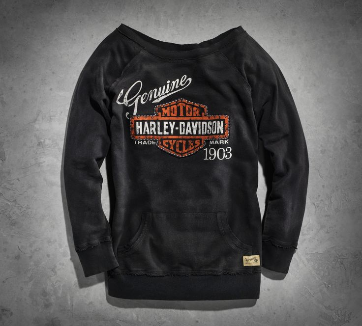 Capture a bit of history, and adventure in this H-D pullover. | Harley-Davidson Women's Genuine Activewear Pullover