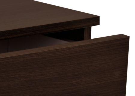 Badmöbelset PANDORA 5tlg - Matt Trüffeleiche- 100 cm Mineralgussbecken