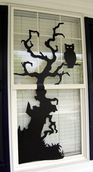 DIY vinyl window cling.