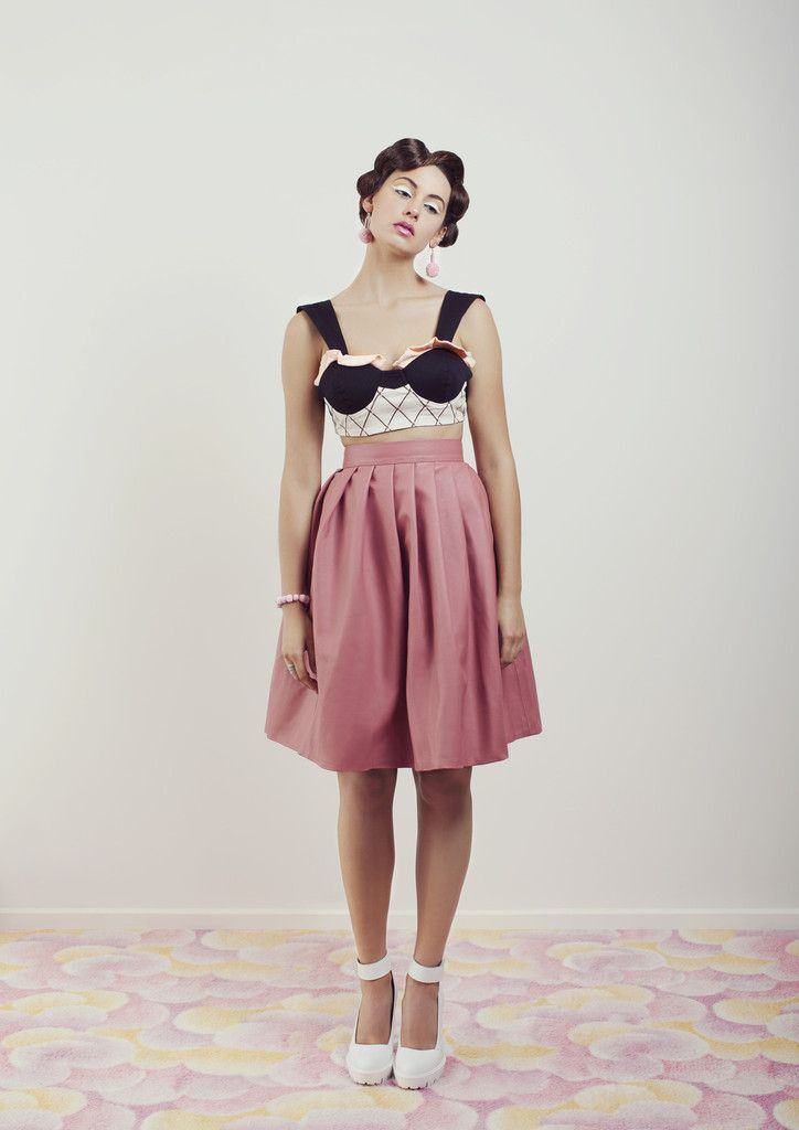 The Waffle Cone Leather Skirt