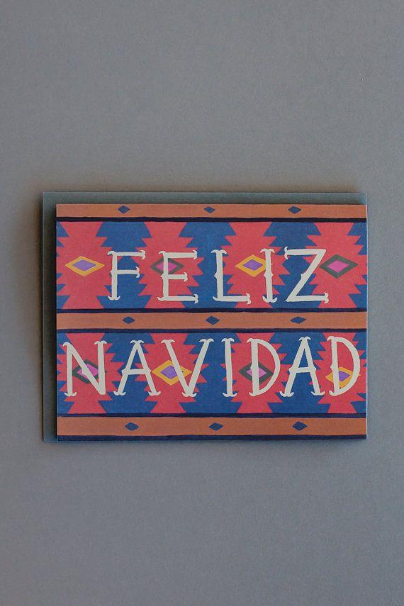 Feliz Navidad Card // Set of 8 on Etsy, $18.00