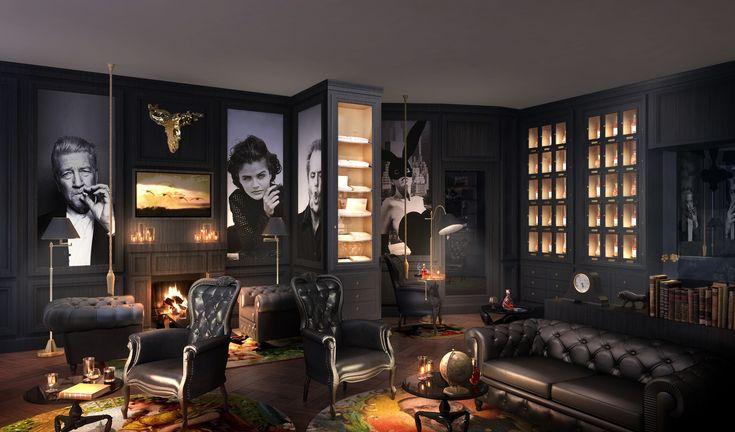 Foto smokers lounge luxury pinterest bar men cave