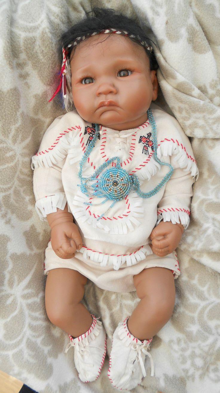 Ashton Drake Life Like Native American Indian Baby Doll