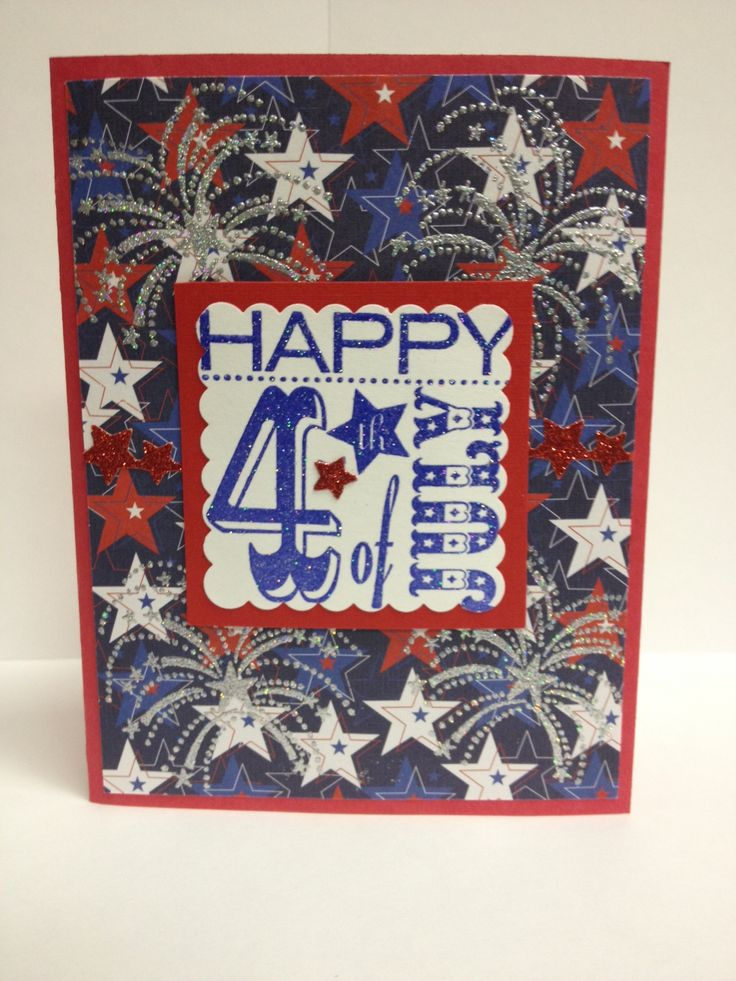 4th of july handmade cards