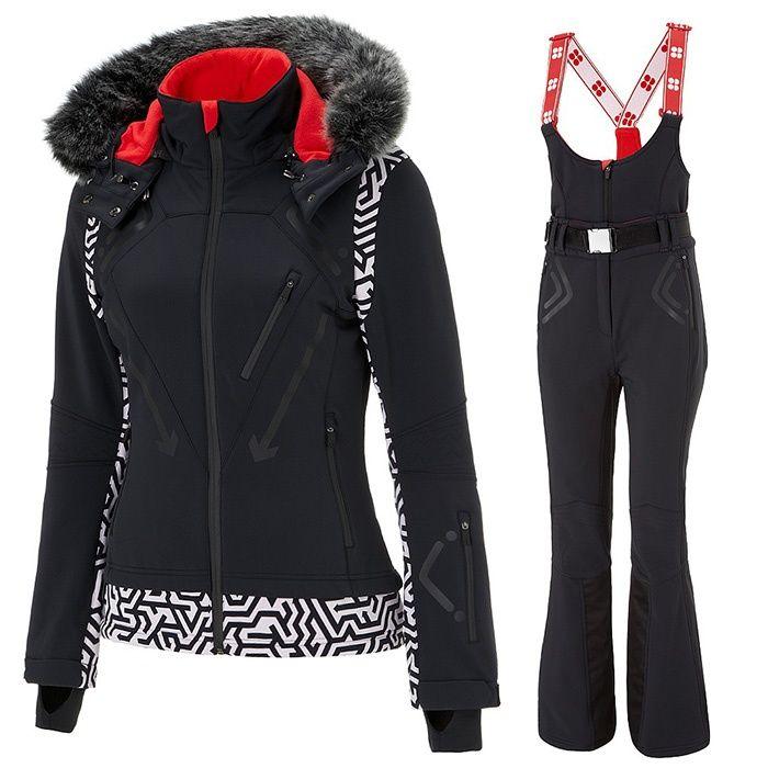 Rank & Style - Sweaty Betty Exploration Ski Jacket & Astro Ski Salopettes #rankandstyle