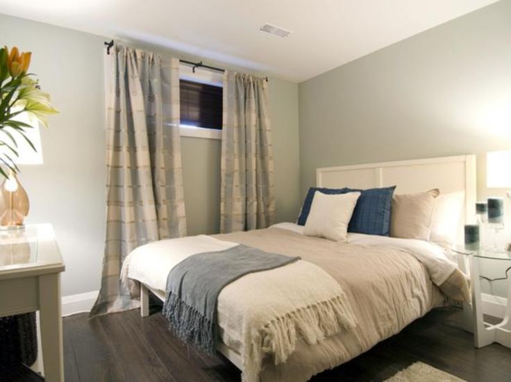 like the long curtains for basement bedroom - Basement Bedroom Ideas