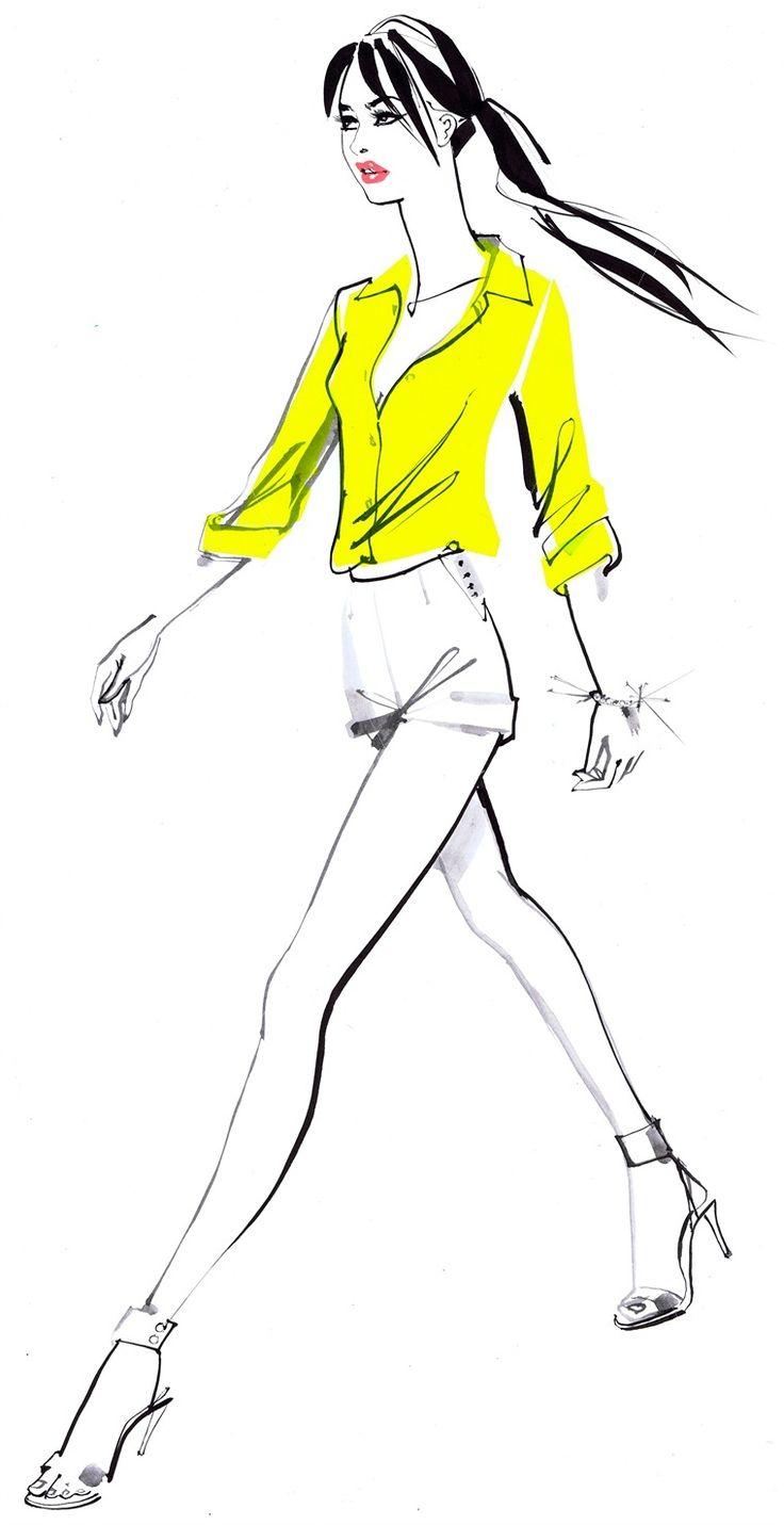 Handing drawing footwear illustration