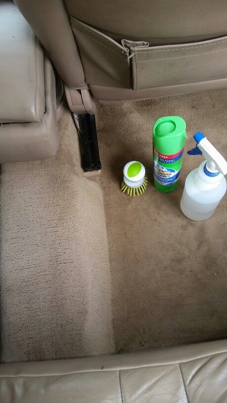 I love you scrubbing bubbles!!!! Best way to clean carpet in vehicles!!!