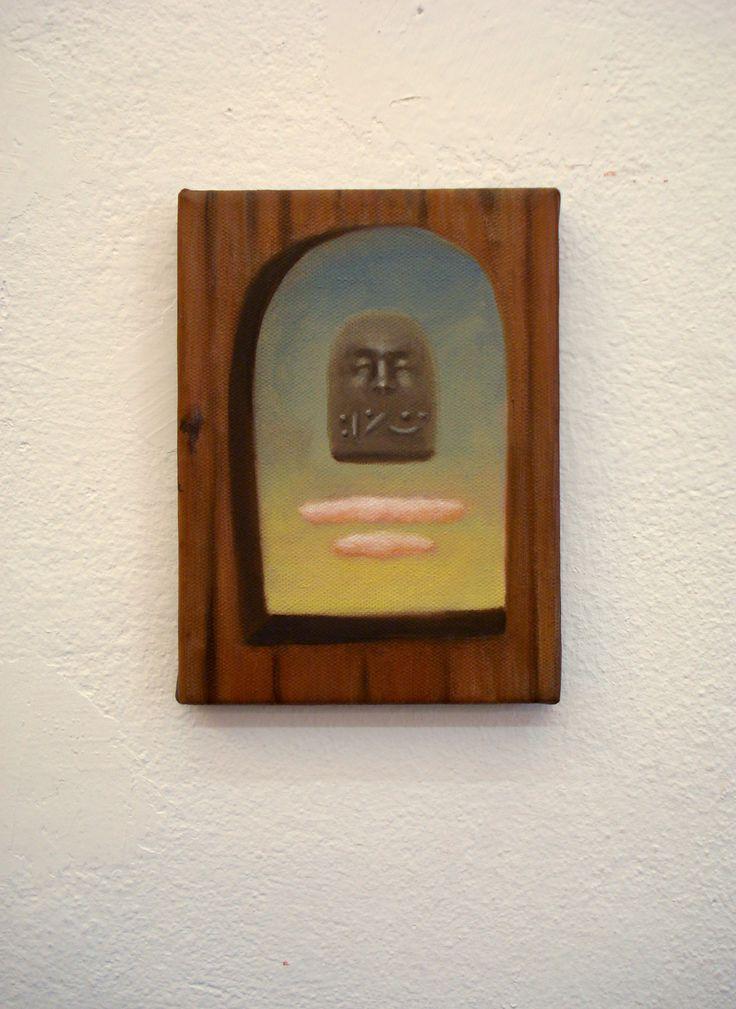 Juan Reos - Flotante - Óleo sobre tela - 13x18cm - 2013