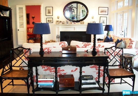 Console table & 2 side chairs-Mary McDonald