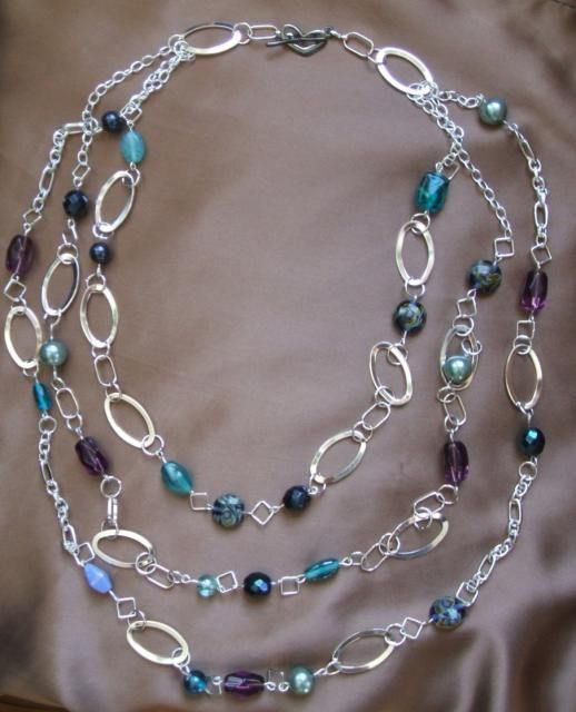 triple chain beaded necklace                                                                                                                                                                                 More