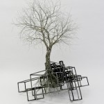 Joburg sculptor Beth Diane Armstrong. Strata - 2012, welded wire and tin copper binding, 37 x 35 x 55cm, (from JHB ArtFair)