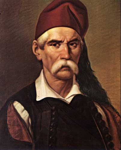 "Nikitaras was the nom de guerre of Nikitas Stamatelopoulos (1784 – 1849), a Greek revolutionary in the Greek War of Independence. Due to his fighting prowess, he was known as Tourkofagos, literally means ""Turk-Eater""."