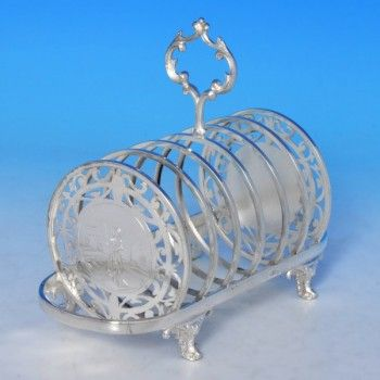 Victorian Silver Plate Toast Rack