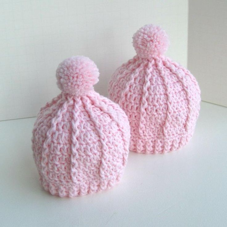 (4) Name: 'Crocheting : cable lines knitted look baby hat toque