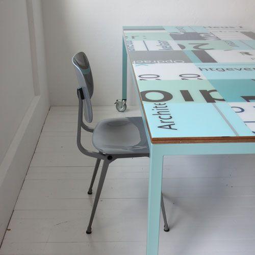 Bouwborden tafel :: Tafel-design.nl