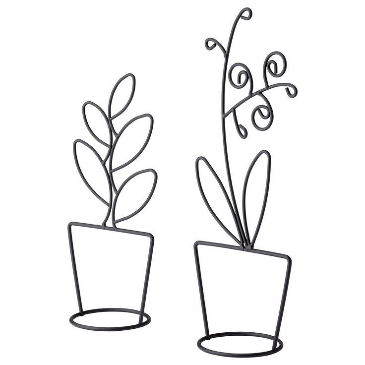 LIKNANDE Διακοσμητικό,σετ 2 τεμ - IKEA. Ζωντάνεψε» ένα ράφι ή ένα παράθυρο με τις φιγούρες από δύο γλάστρες!