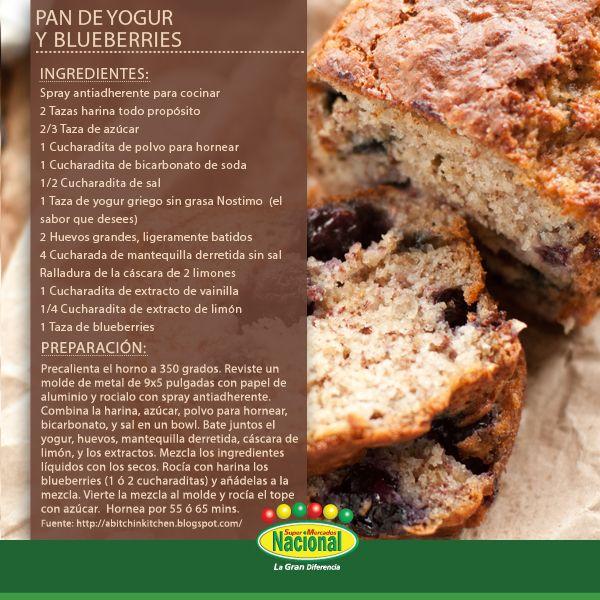 Pan de Yogur y Blueberries.