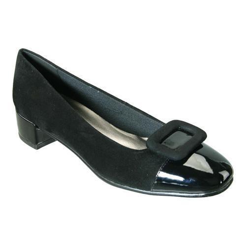 Women's David Tate Retro Black Suede/Black Patent by David Tate   Black  suede, Retro and Shoes outlet