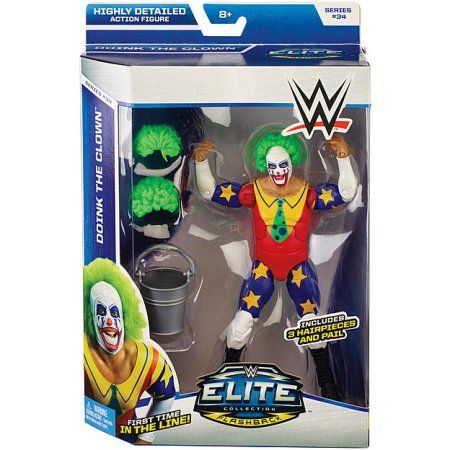 WWE Doink The Clown Action Figure, Multicolor