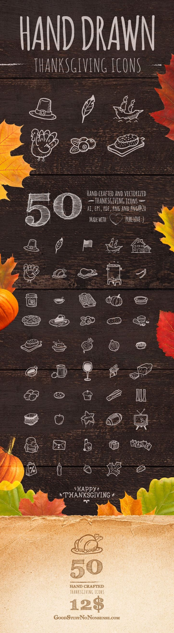 Thanksgiving Icons made by @weboutloud