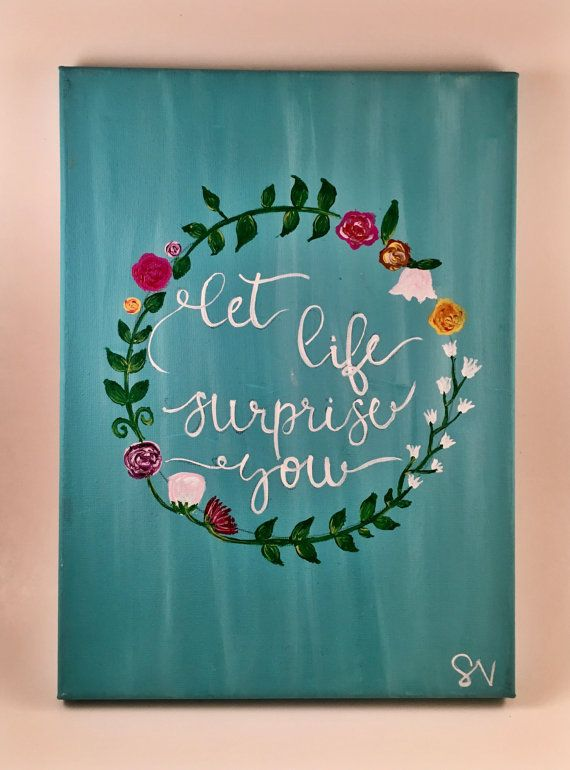 You Are Loved Quote Canvas Painting by MuseArtwork on Etsy