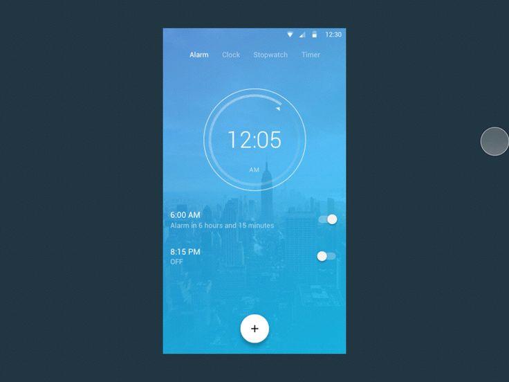 O'CLOCK | Android Clock App UI