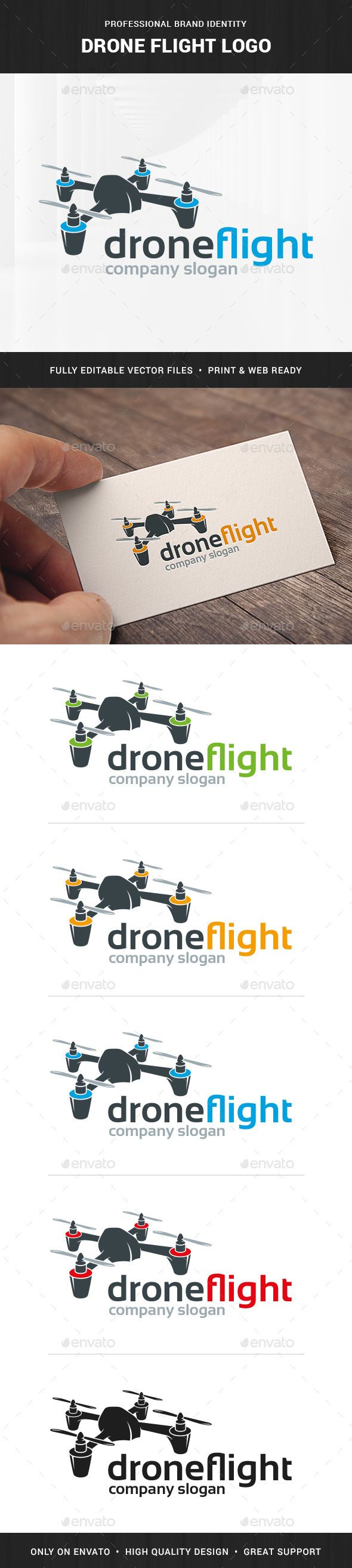 Drone Flight  - Logo Design Template Vector #logotype Download it here: http://graphicriver.net/item/drone-flight-logo-template/12744793?s_rank=141?ref=nesto