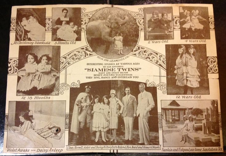 Great old Vaudeville program from a Daisy and Violet Hilton performance. Not in the best condition but I was so excited to find this at Shaw's Antiques! ( this is the inside of the program)