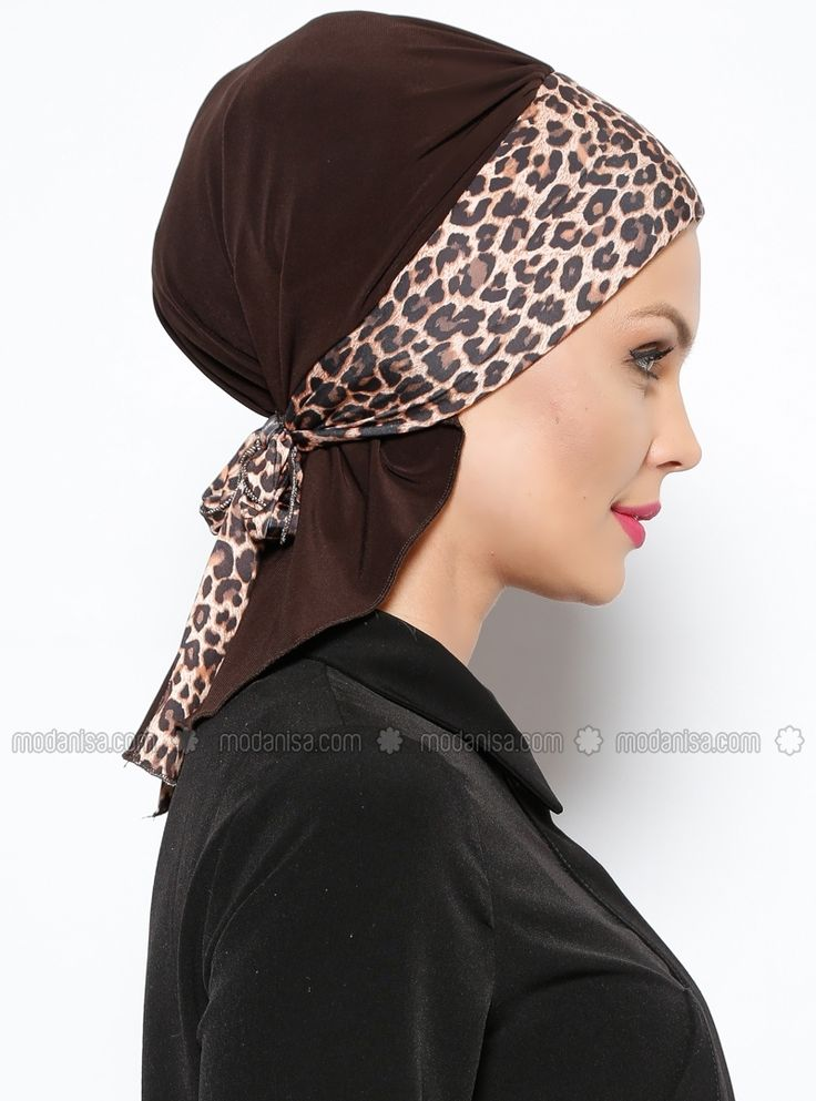 Arya Instant Shawl - Brown Leopard - Vera Bone