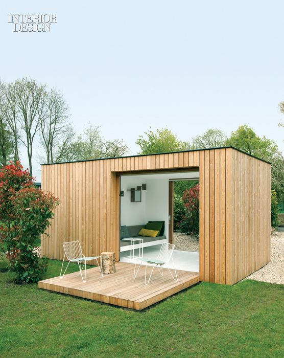 Filip Janssens: Tom Lierman Office of Architecture and Interiors designed Filip Janssens a barnlike residence, and Janssens added a small garden pavilion with an exterior clad in larch planks. The 110-square-foot interior, fully insulated, comprises a tool shed and an airy garden room.