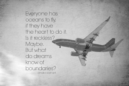Amelia Earhart Print Aviation Airplane Photography Plane Art Woman Quote Pilot Flyer Air Force Sky Black White Reckless Dreams Boundaries on Etsy, $10.00