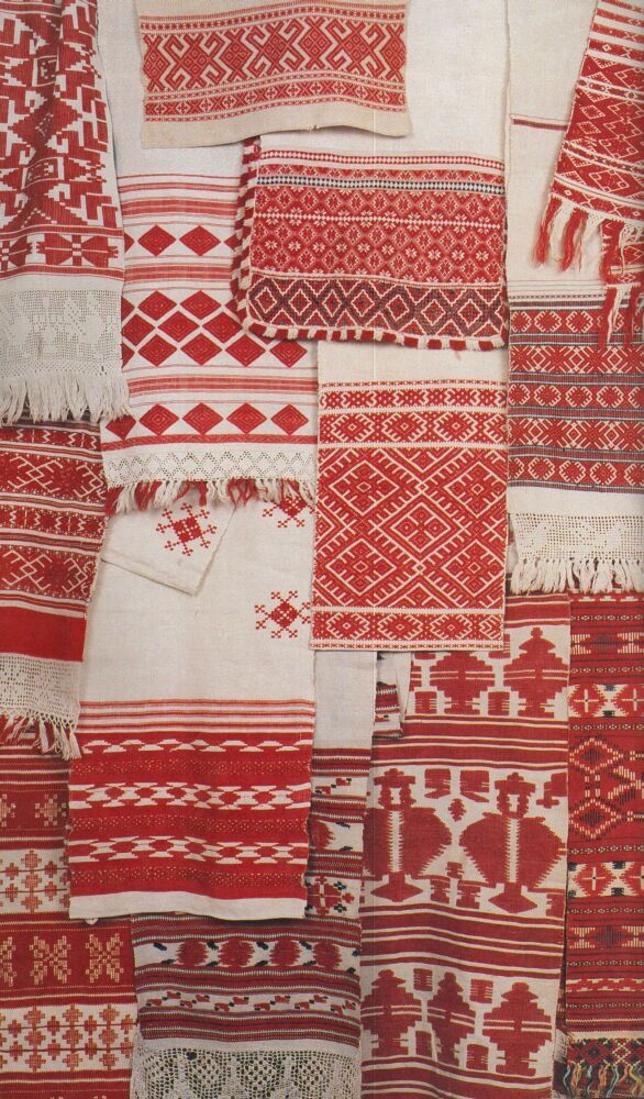 Belarusian Ruchnik A ruchnik is a traditional ornamental towel. This towel is a piece of textile which embodies many significant concepts within Belarusian life. In fact the ruchnik are a highly important part of the national culture.