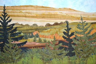 """""""Another in the Minnesota series. This one has 5 hours of hand stitching on it. A real labor of love. I love the fields in late July. That is when we would go fishing."""" from Maryann VanSoest"""