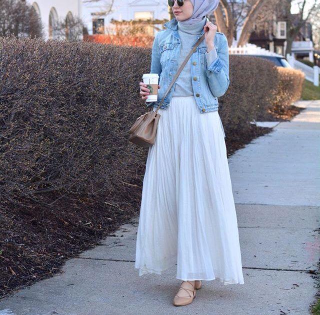 #hijabfashion #pleatedskirt