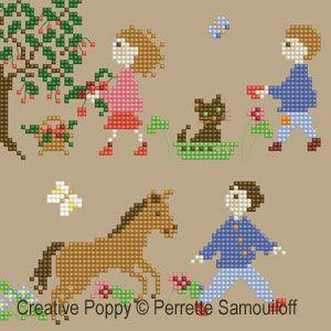 Perrette Samouiloff - Bonheurs d'enfance - Le printemps GM (point de croix)