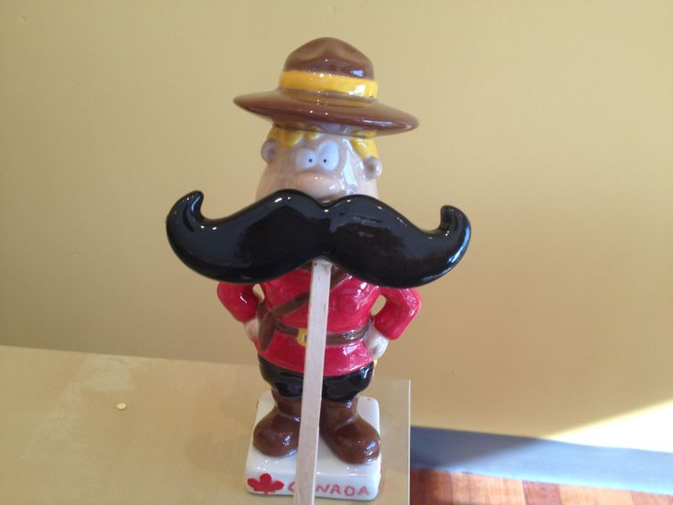 Mountie supporting Movember in Niagara Falls!  www.crockadoodle.com